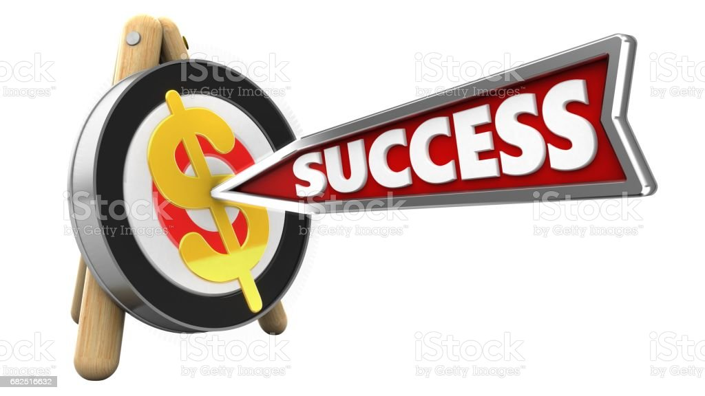 3d success arrow royalty-free stock photo