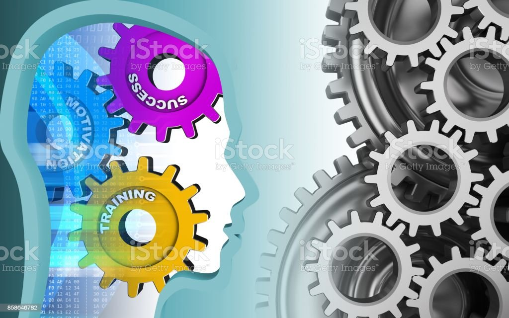 3d success system stock photo