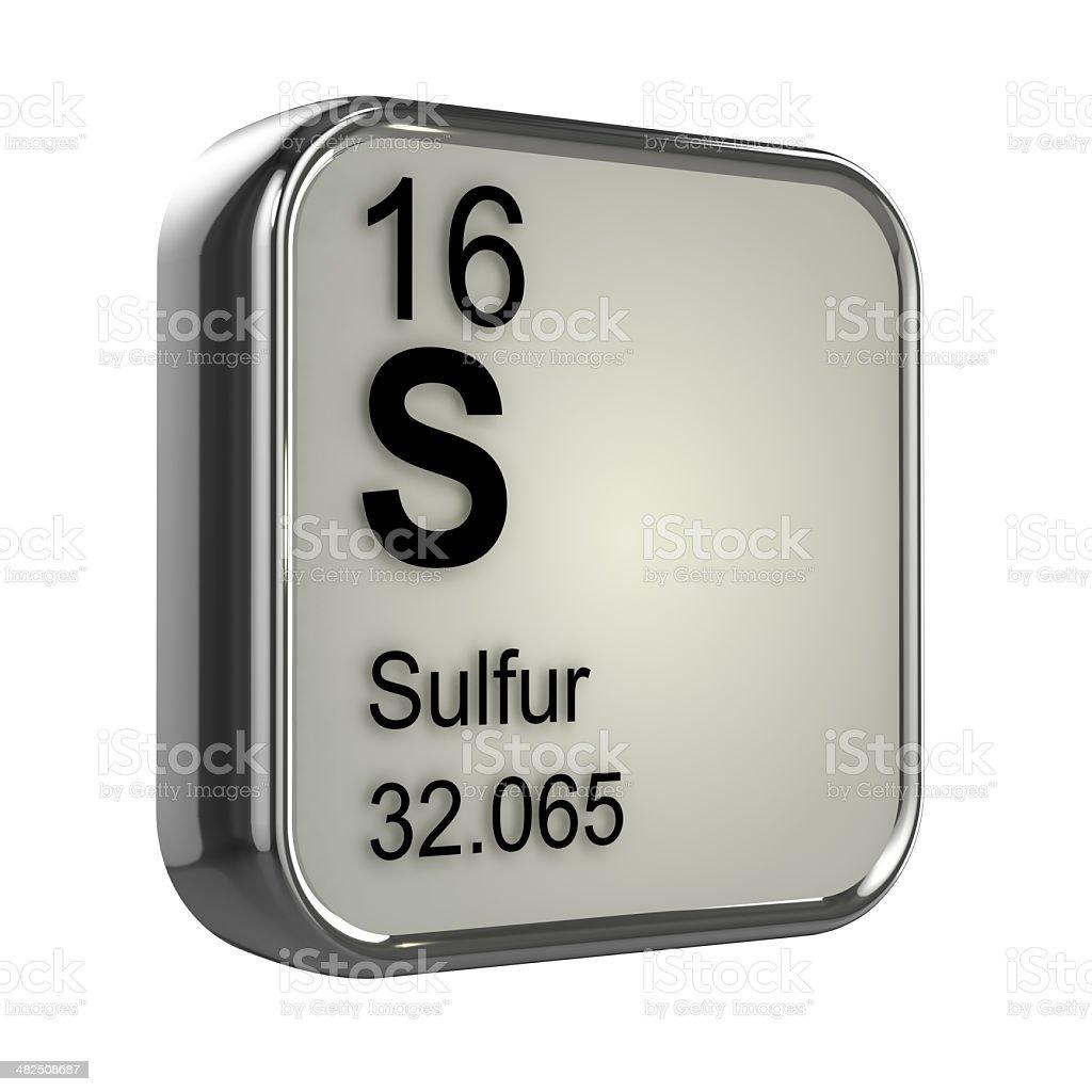3d Sulfur element stock photo