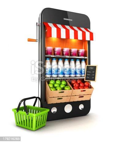 istock 3d supermarket smartphone 179216265