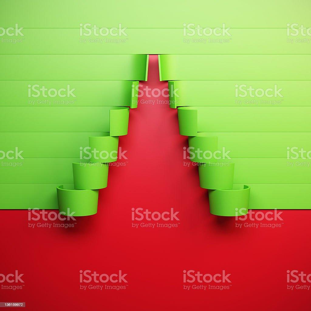 3d symbolic New Year's fir tree royalty-free stock photo