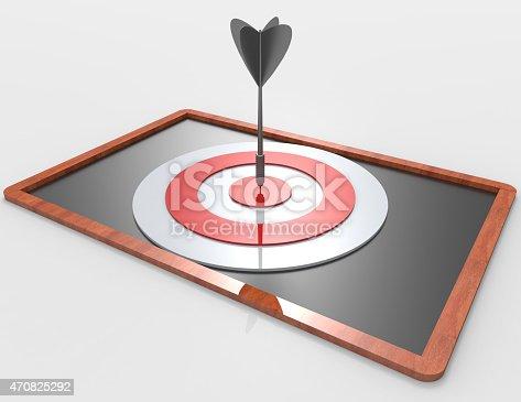 istock 3d target and arrows on blackboard 470825292