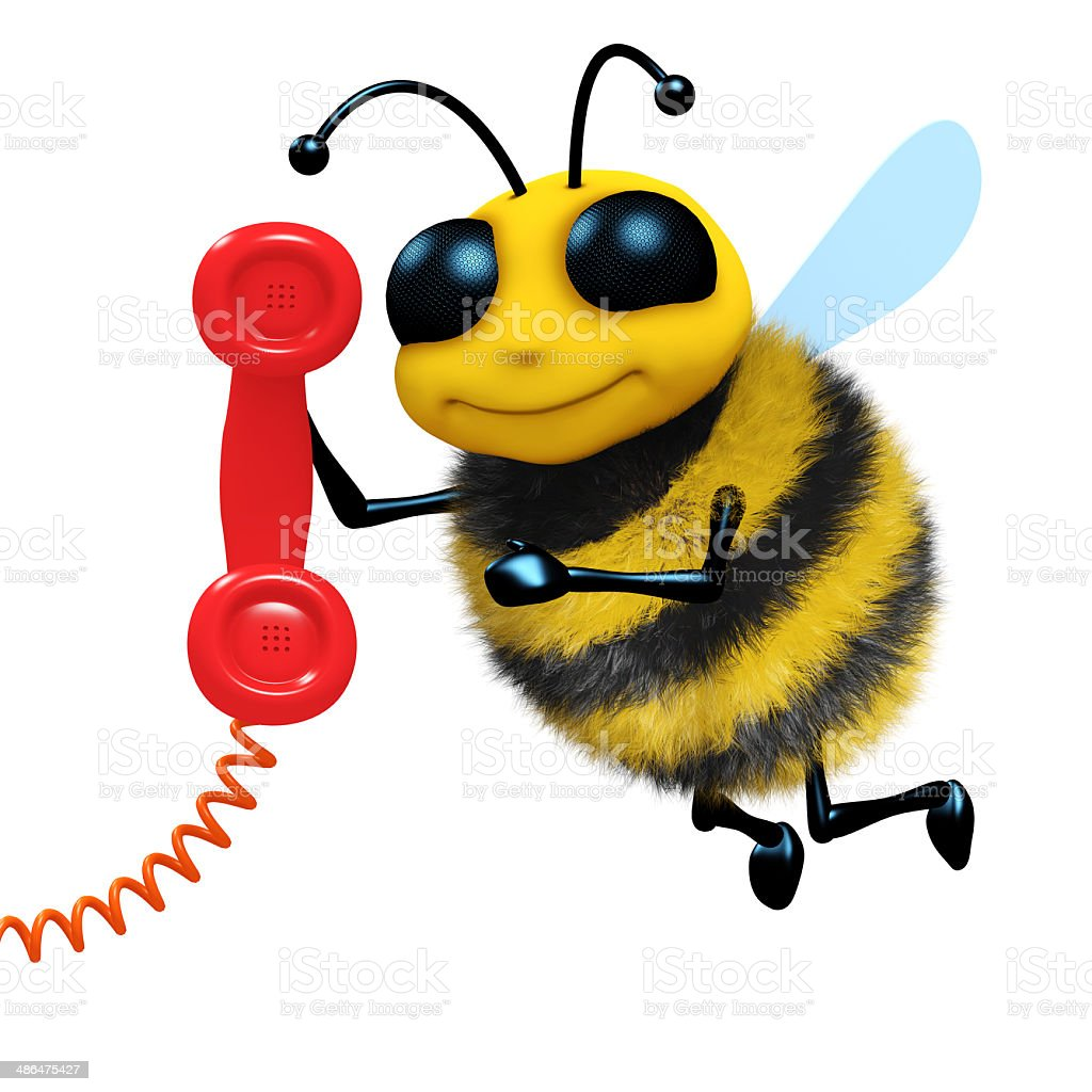 3d Telephone bee stock photo
