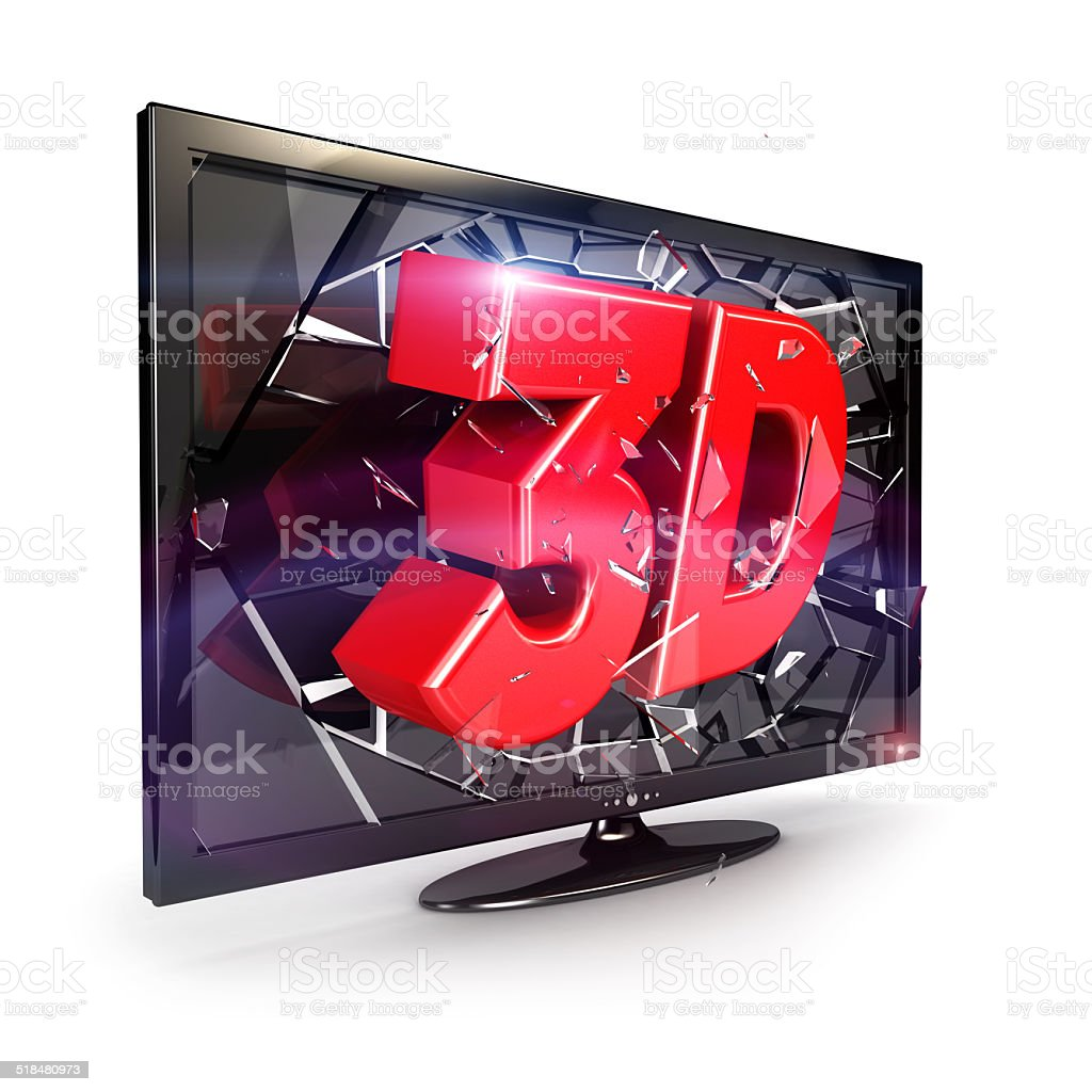 3d television stock photo