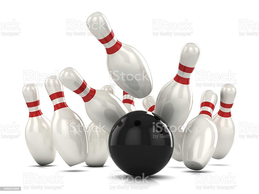 20d Ten Pin Bowling Strike Stock Photo   Download Image Now   iStock