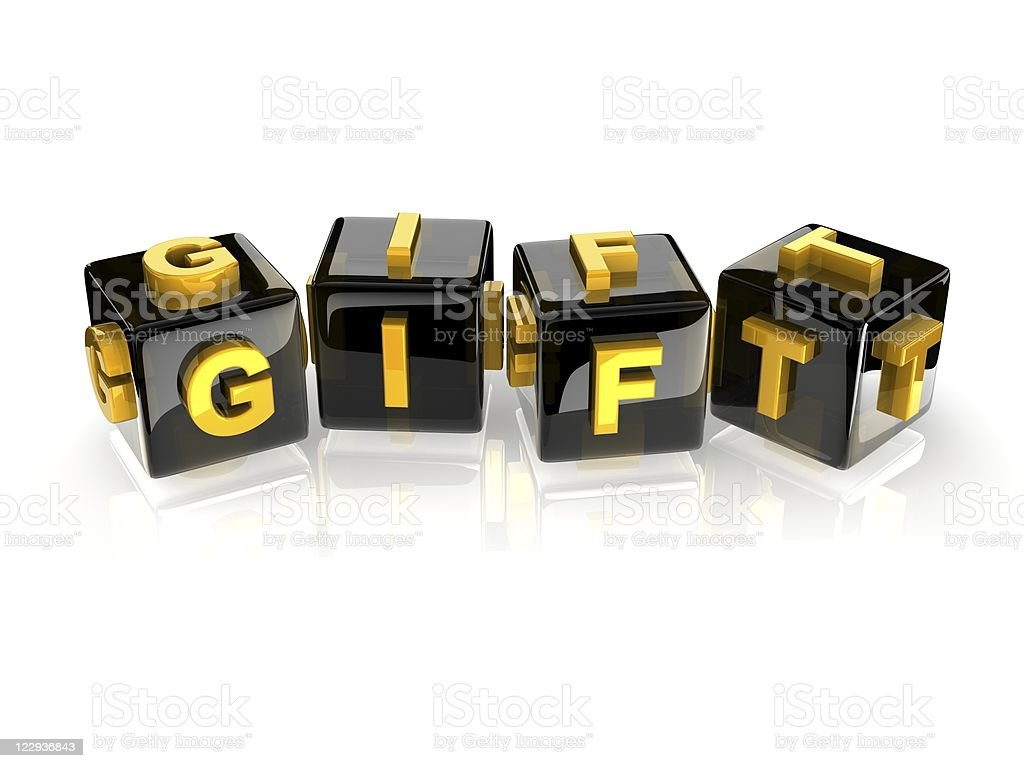 3d text GIFT stock photo
