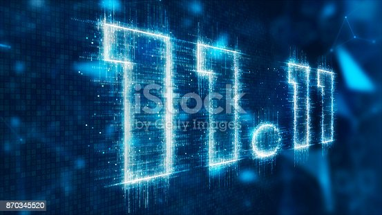 istock 3d text of 11.11 870345520