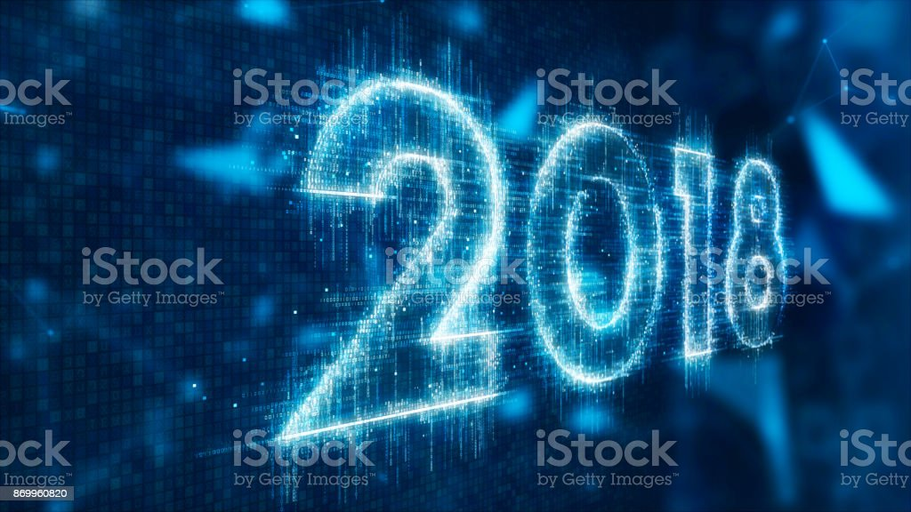 3d text of 2018 stock photo