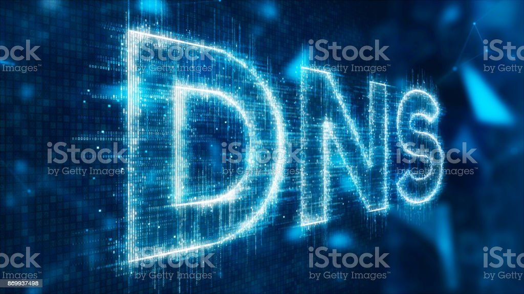 3d text of dns foto stock royalty-free