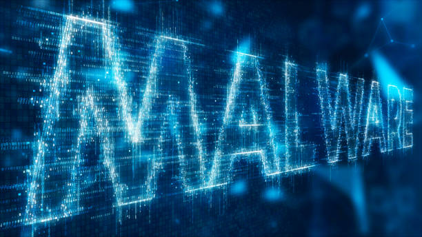 3d text of malware 3d illustration text of malware on abstract background spyware stock pictures, royalty-free photos & images