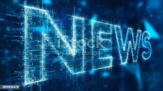 istock 3d text of news 869936426
