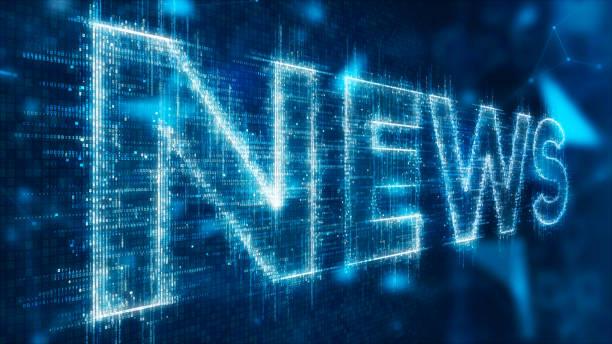 texto 3D de noticias - foto de stock