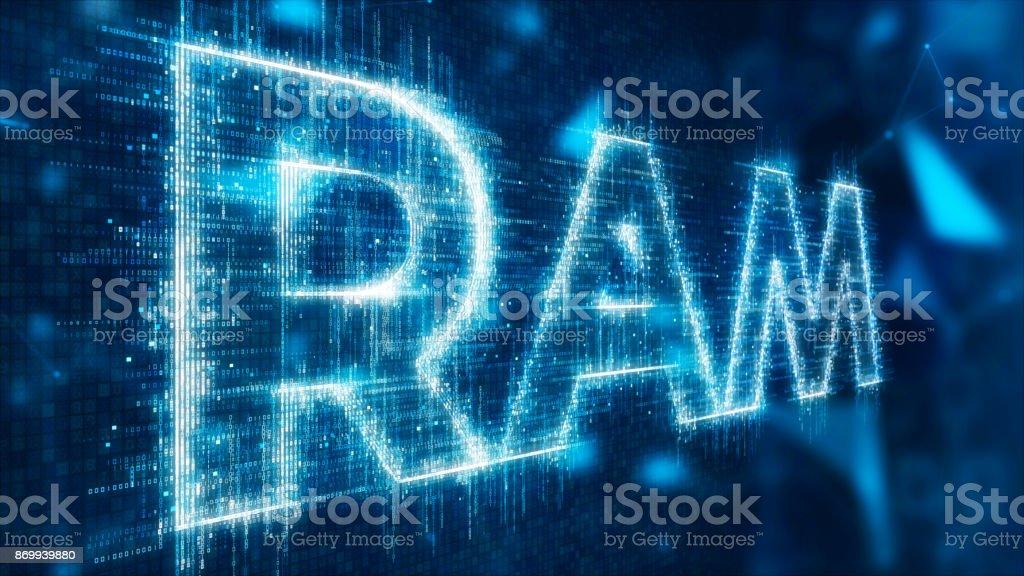 3d text of ram stock photo