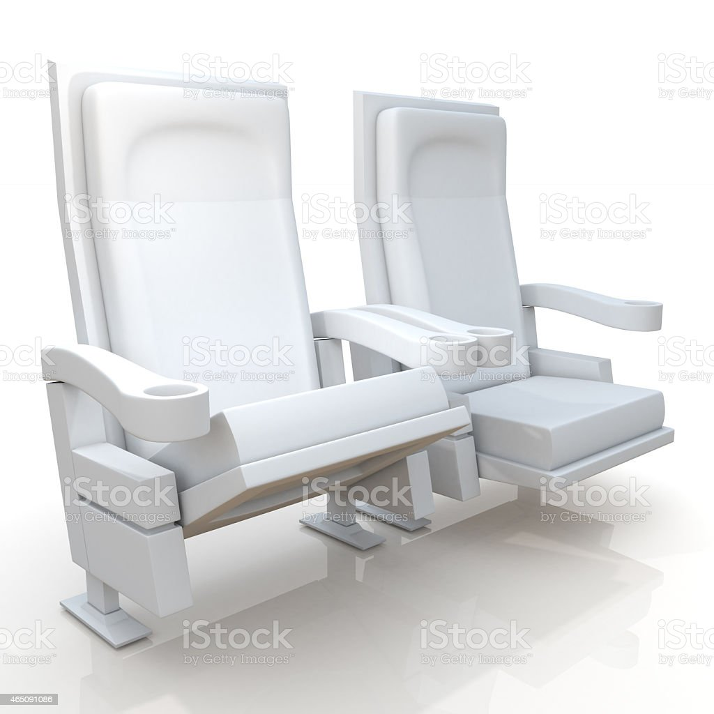 3d Theater Seats In Isolated Background Stock Photo