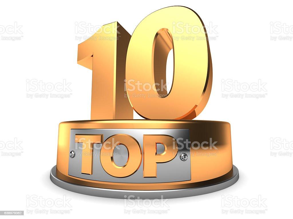 3d top 10 stock photo