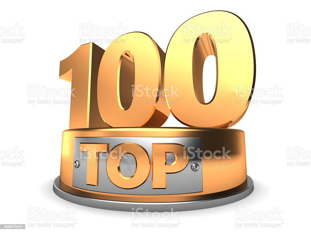 3d top 100 stock photo