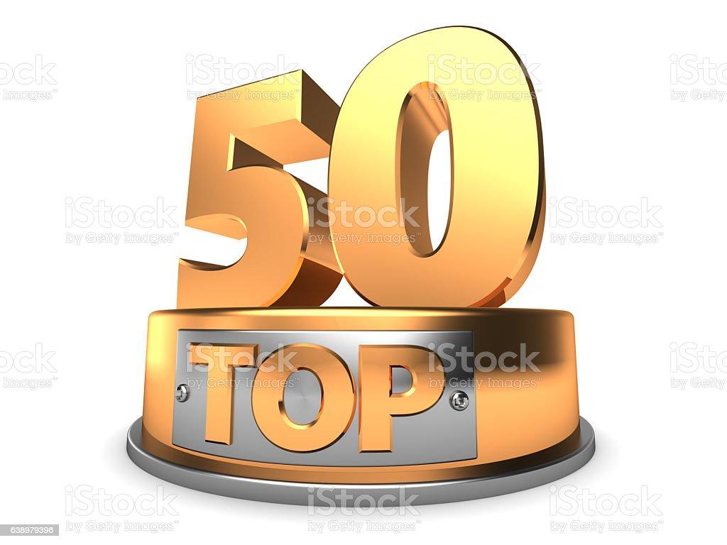 3d top 50 stock photo