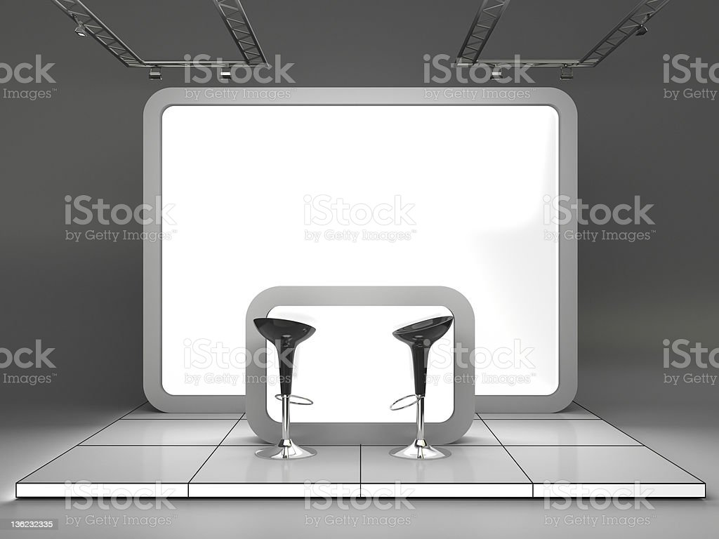 3d Trade Advertising Stand royalty-free stock photo
