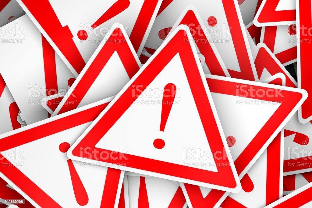 3D-Board Dreieck mit Ausrufezeichen – Foto