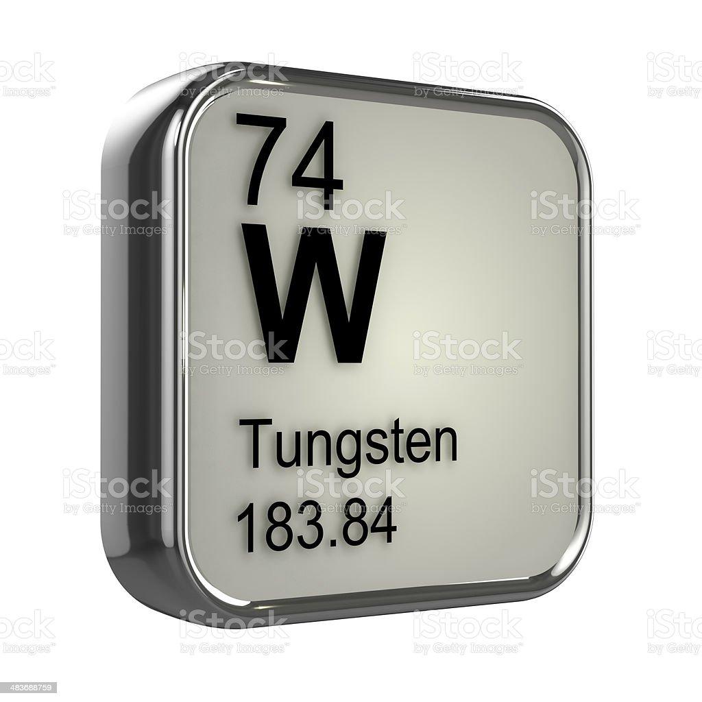 3d Tungsten element stock photo