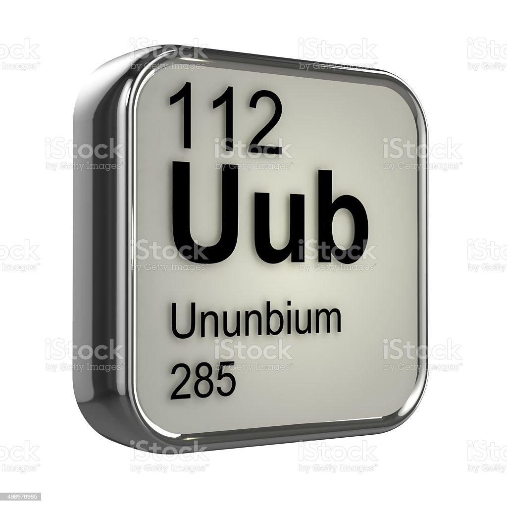 3d ununbium periodic table element stock photo more pictures of 3d ununbium periodic table element royalty free stock photo urtaz Image collections
