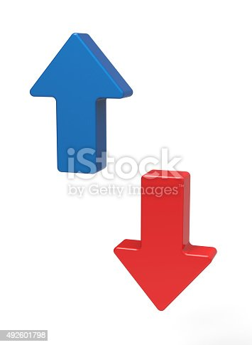 istock 3d up and down arrows 492601798