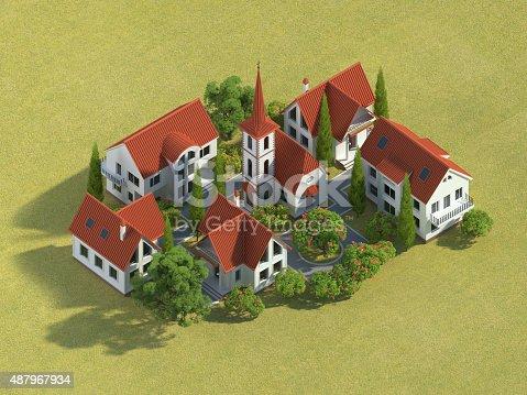 istock 3d village 487967934