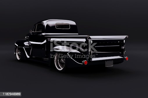 837409978istockphoto 3d vintage beautiful pick-up truck car 1182946989