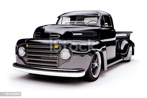 837409978istockphoto 3d vintage beautiful pick-up truck car 1182946999