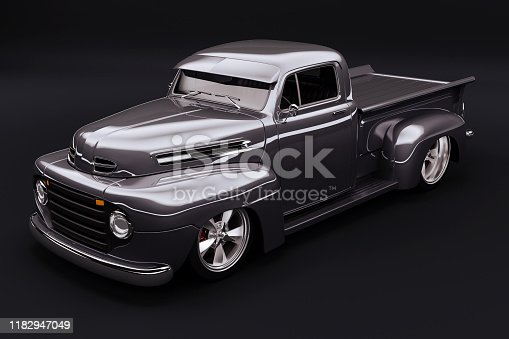 837409978istockphoto 3d vintage beautiful pick-up truck car 1182947049