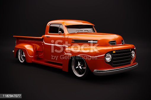 837409978istockphoto 3d vintage beautiful pick-up truck car 1182947077