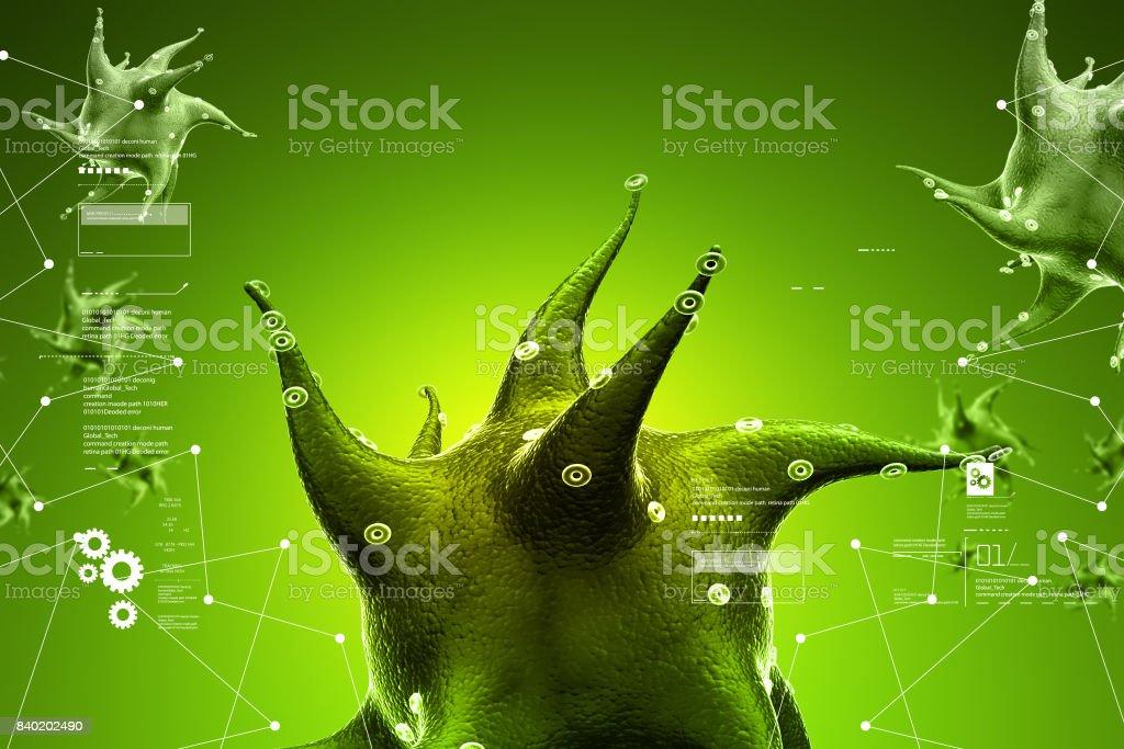 3d virus cell stock photo
