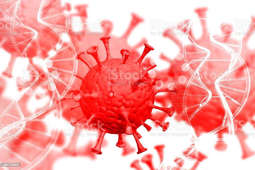 3d virus stock photo