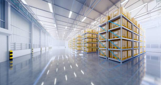 3d warehouse building - warehouse imagens e fotografias de stock