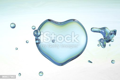 859844580istockphoto 3d water heart illustration with drops and splash 968027952