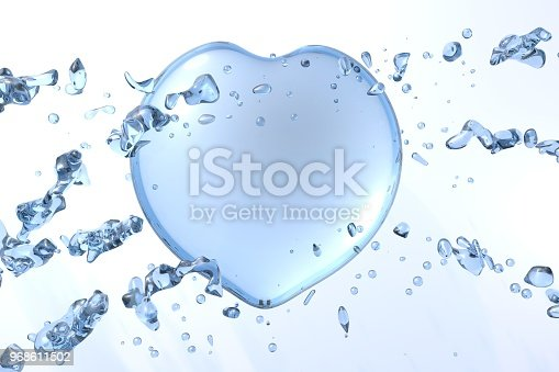 859844580istockphoto 3d water heart illustration with drops and splash 968611502
