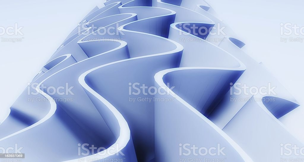 3d wavy background royalty-free stock photo
