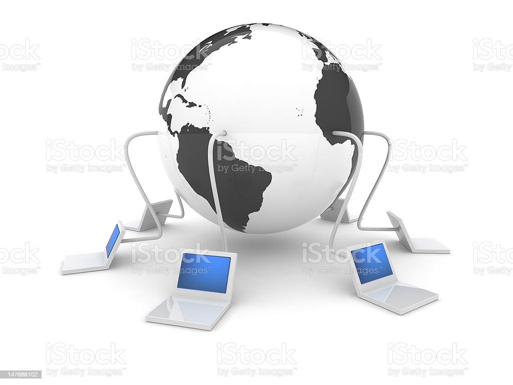 3d web icon - Internet royalty-free stock photo