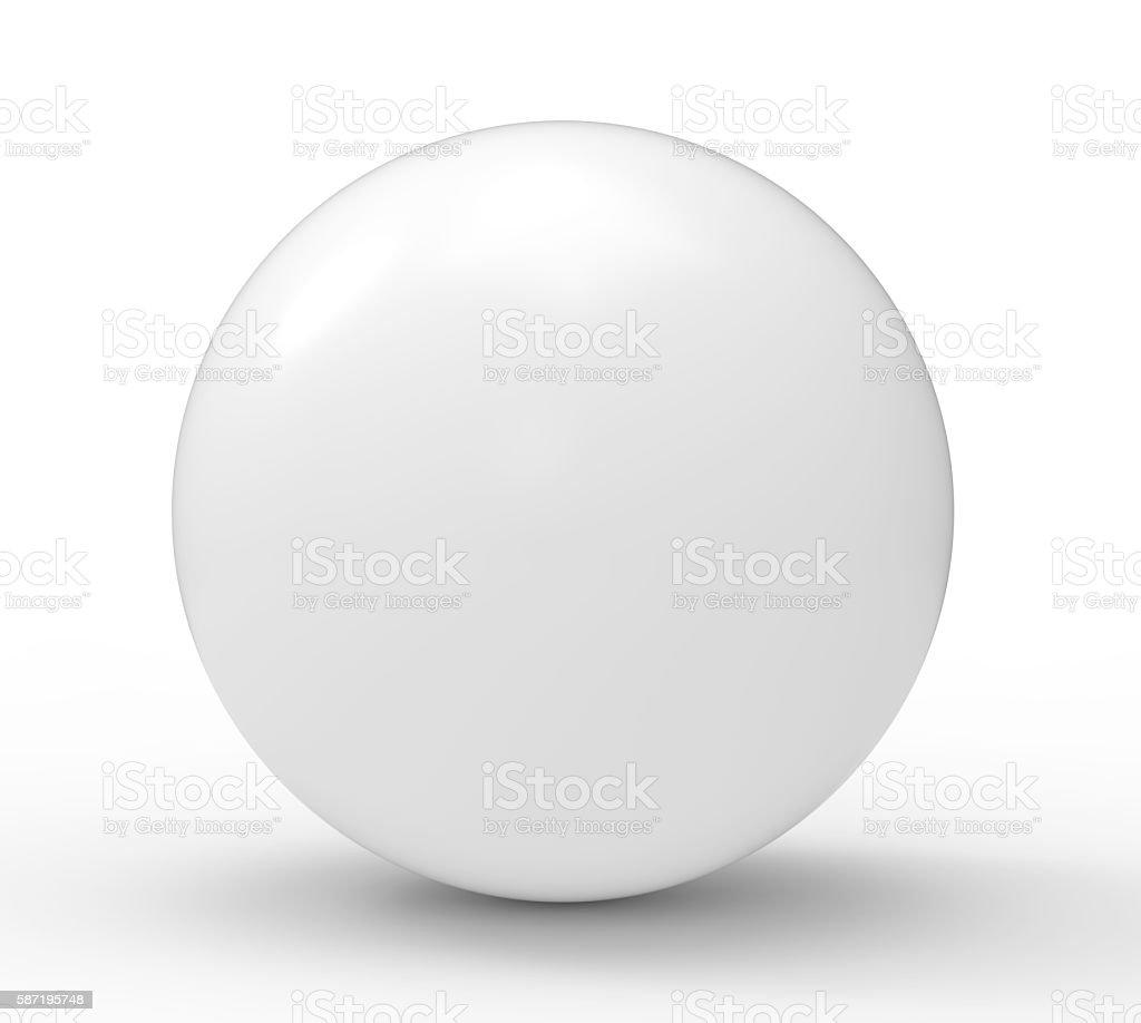 3d, white blank sphere stock photo