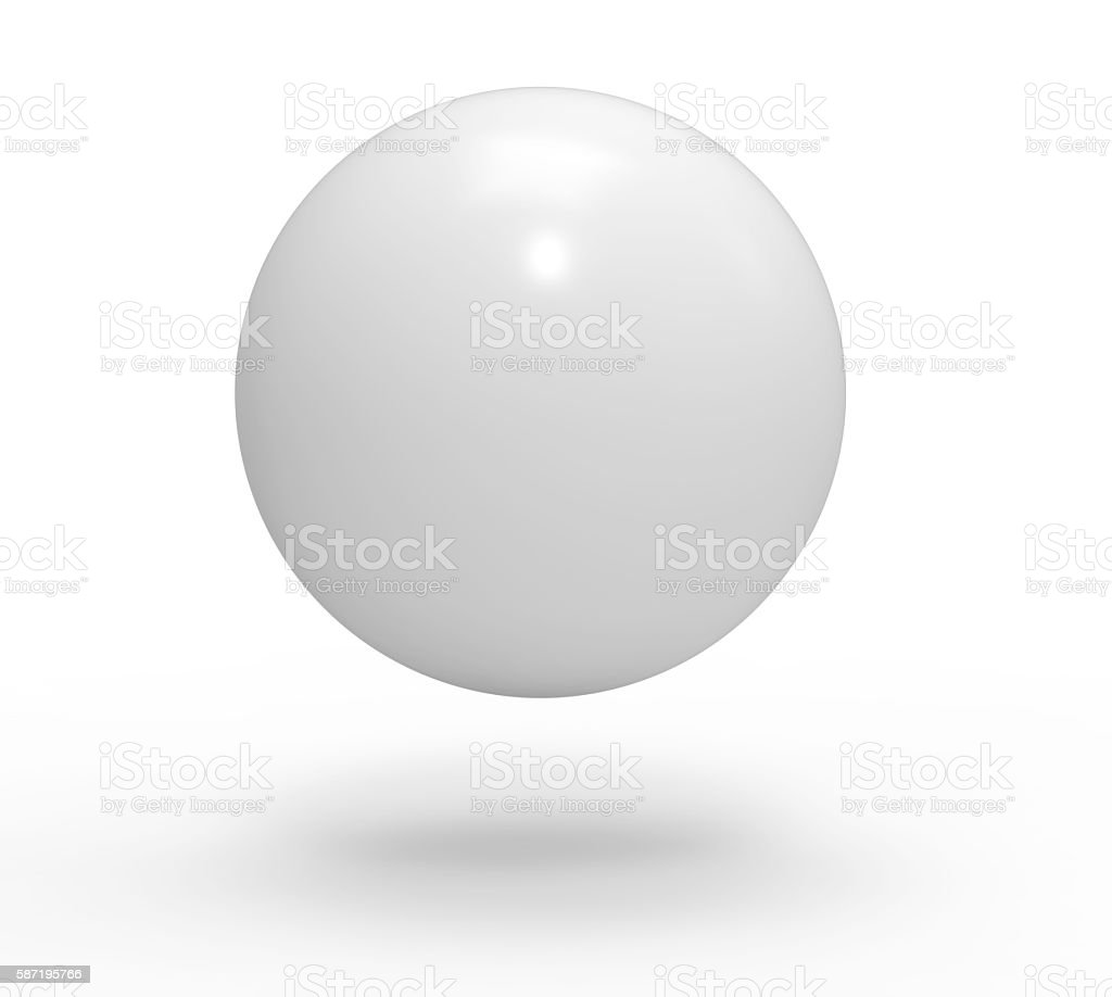 3d, white blank sphere stock photo