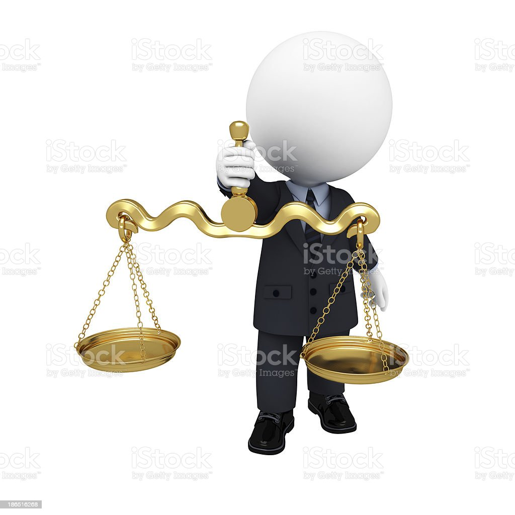 3d white character as business man royalty-free stock photo