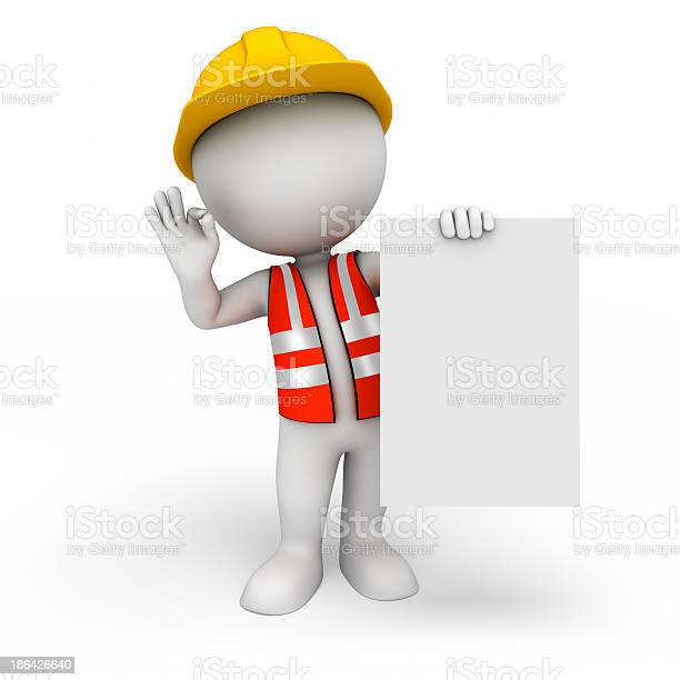 3d white character as worker with sign picture id186426640?b=1&k=6&m=186426640&s=612x612&h=tdblp5dfmgfogvtg3edvnyzxim7p7jctkkmcn0cdes8=