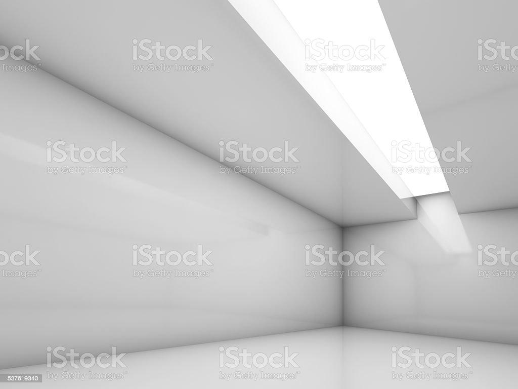 3d white contemporary interior, empty room stock photo