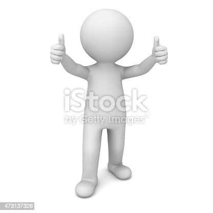 471353682istockphoto 3d white man showing thumbs up 473137326
