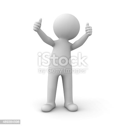 471353682 istock photo 3d white man showing thumbs up 489384598