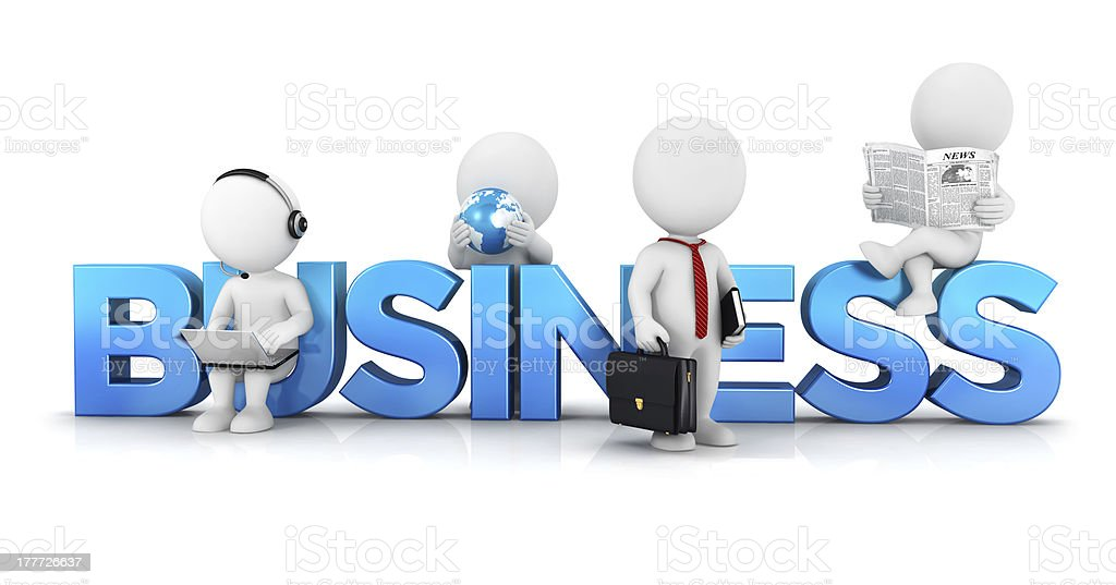 3d white people business concept stock photo