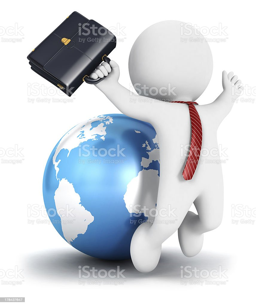 3d white people business success stock photo