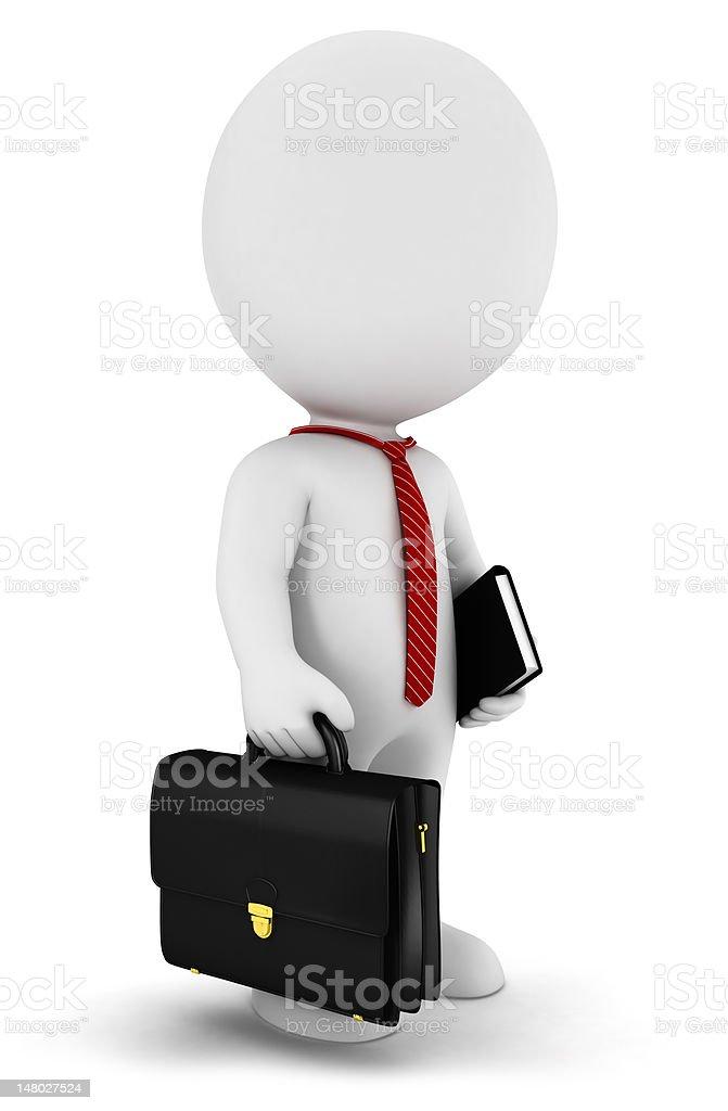 3d white people businessman stock photo
