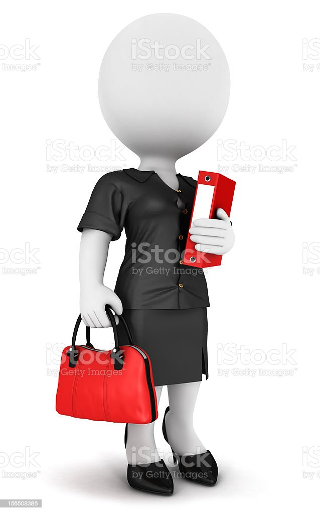3d white people businesswoman royalty-free stock photo