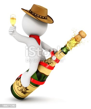 istock 3d white people champagne rodeo 188071280